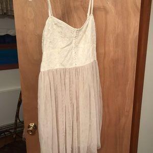 Size 10 Creme chiffon/lace dress